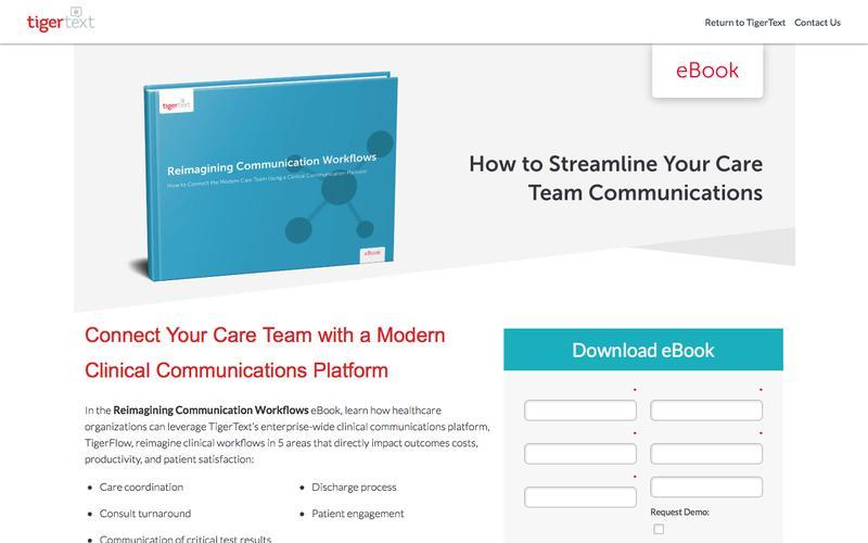 TigerText Reimagining Communication Workflows eBook
