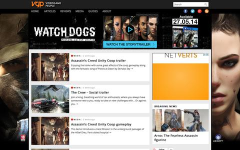 Screenshot of Press Page videogamepeople.com - Videogamepeople - PC and Console News, Videos, Reviews, Opinions, Guides - captured Oct. 1, 2014