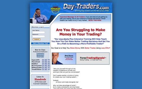Screenshot of Home Page day-traders.com - Forex and Emini Day Trading - Day-Traders.com - captured Sept. 19, 2014