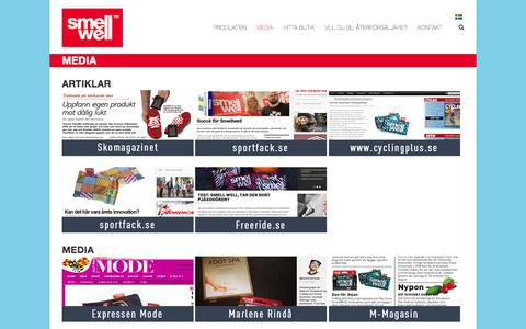 Screenshot of Press Page smellwell.se - Media, youtube | SmellWell - captured Sept. 24, 2015