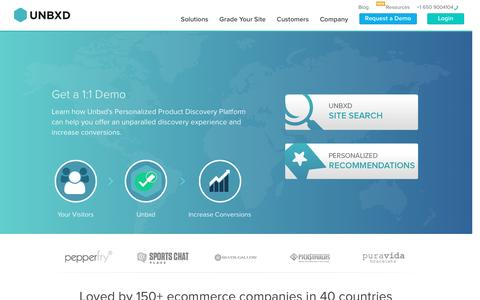 Screenshot of Signup Page unbxd.com - Sign Up for Unbxd - captured Feb. 27, 2016