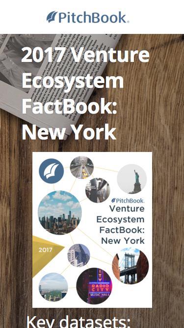 PitchBook 2017 Venture Ecosystem FactBook: New York