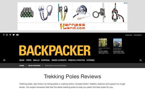 Trekking Pole Reviews | Find the Best Trekking Poles - Backpacker