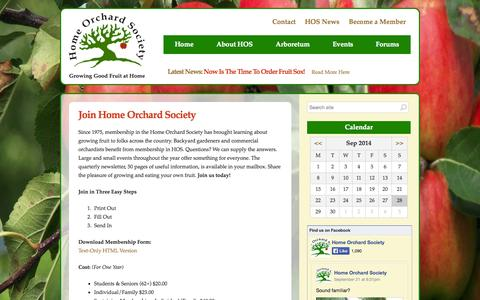 Screenshot of Signup Page homeorchardsociety.org - Join Home Orchard Society :: Home Orchard Society - captured Sept. 30, 2014