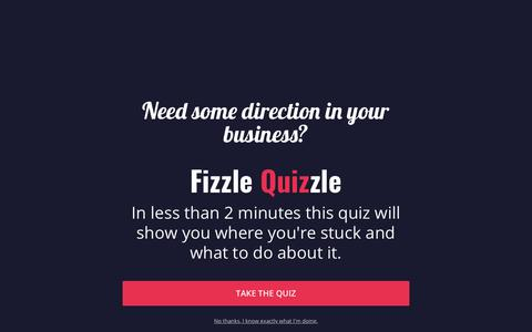 Screenshot of Support Page fizzle.co - Get Support From Fizzle - captured June 24, 2019