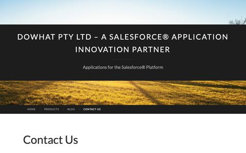 Screenshot of Contact Page wordpress.com - Contact Us | DoWhat Pty Ltd – a Salesforce® Application Innovation Partner - captured Nov. 14, 2018