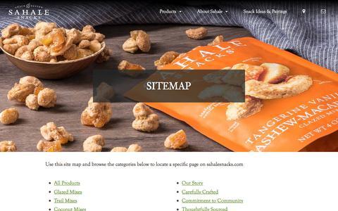 Screenshot of Site Map Page sahalesnacks.com - Site Map | Sahale Snacks® - captured Nov. 24, 2019