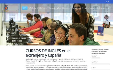 Screenshot of Home Page kingsinternational.es - CURSOS de INGLES en el EXTRANJERO, CURSOS DE IDIOMAS en el EXTRANJERO, CAMPAMENTOS INGLES - captured Oct. 18, 2015