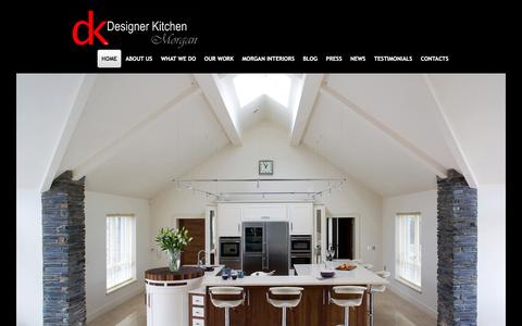 Screenshot of Home Page designer-kitchen.com - Designer Kitchens Ireland Northern Ireland Bespoke Kitchen Design ni - captured Jan. 7, 2016