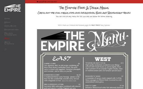 Screenshot of Menu Page the-empire.org - Menus - The Empire Movie House in Phnom Penh - captured Feb. 15, 2016