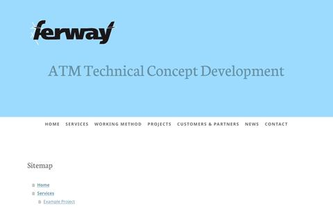 Screenshot of Site Map Page ferway.com - Sitemap - FerWay - captured May 11, 2017