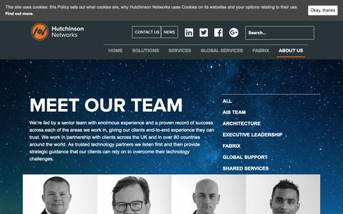 Screenshot of Team Page hutchinsonnetworks.com - People Archive - Hutchinson Networks - captured Sept. 29, 2018