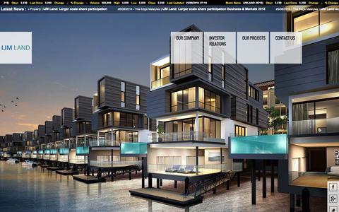 Screenshot of Home Page ijmland.com - IJM Land - Malaysia Property Developer - captured Sept. 19, 2014