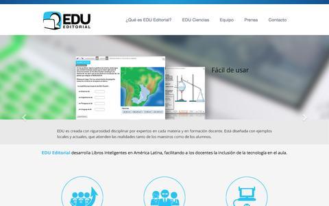Screenshot of Home Page editorialedu.com - EDU Editorial - captured Jan. 23, 2016