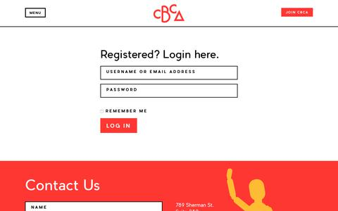 Screenshot of Login Page cbca.org - User Login – Colorado Business Committee for the Arts - captured Aug. 13, 2017