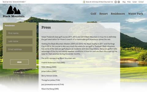 Screenshot of Press Page blackmountainhuahin.com - Press - Black Mountain Golf Club - captured Oct. 5, 2014