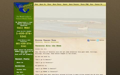 Screenshot of Blog discoververacruztours.com - Discover Veracruz Tours - captured Oct. 5, 2014