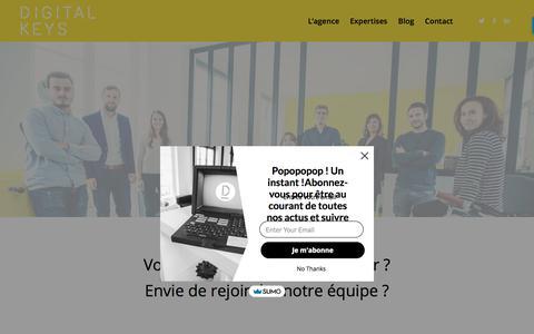 Screenshot of Contact Page digitalkeys.fr - Contact - Digitalkeys - captured Sept. 20, 2018