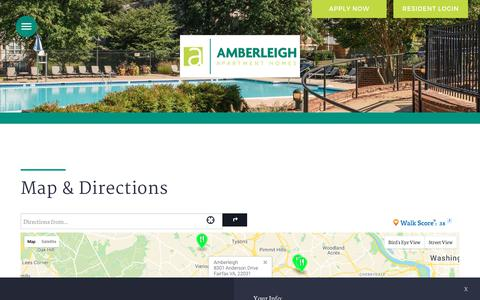 Screenshot of Maps & Directions Page amberleighapartments.com - Map and Directions to Amberleigh in Fairfax, VA - captured Nov. 6, 2018