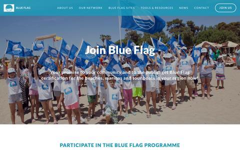 Screenshot of Signup Page blueflag.global - Join us — Blue Flag - captured Feb. 21, 2016