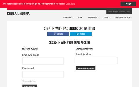 Screenshot of Login Page nationbuilder.com - Sign in - captured July 2, 2018