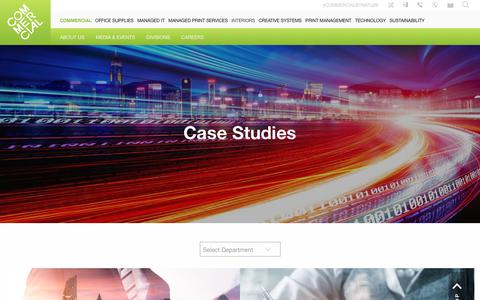 Screenshot of Case Studies Page commercial.co.uk - Case Studies - Commercial - captured Sept. 21, 2018