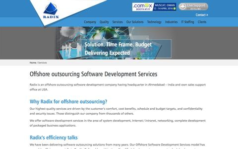 Screenshot of Services Page rndinfo.com - Offshore outsourcing Software Development Services, Software Solutions Integration - captured Feb. 15, 2016