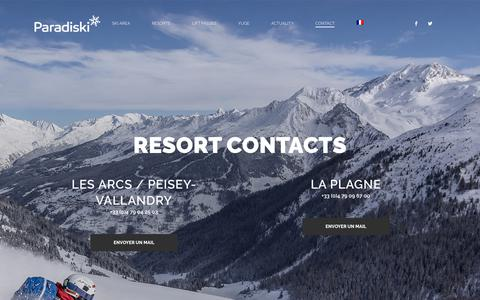 Screenshot of Contact Page paradiski.com - Contact - Paradiski - captured Jan. 1, 2018