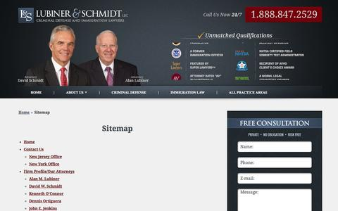 Screenshot of Site Map Page lslawyers.com - Sitemap - Lubiner & Schmidt, LLC - captured Oct. 3, 2014