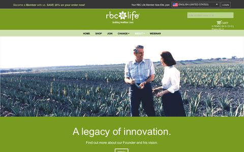 Screenshot of About Page rbclife.com - RBC Life – Building Healthier Lives > About - captured Nov. 28, 2018