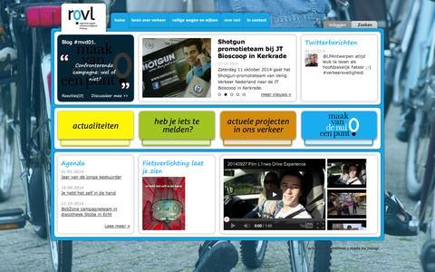 Screenshot of Home Page rovl.nl - Werkt u ook aan uw eigen veiligheid? - captured Oct. 9, 2014
