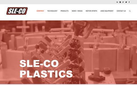 Screenshot of Home Page sleco.com - Sle-co Plastics   - captured Aug. 12, 2015
