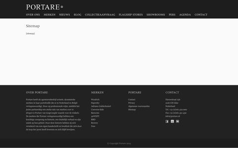 Screenshot of Site Map Page portare.nl - Sitemap - Portare - captured Oct. 2, 2014