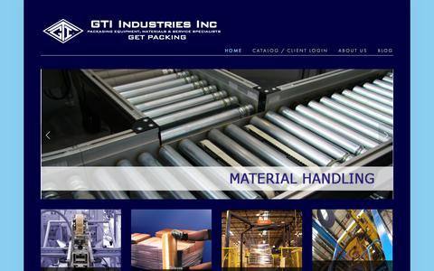 Screenshot of Home Page gtiindustries.com - GTI Industries Inc - captured Oct. 1, 2014