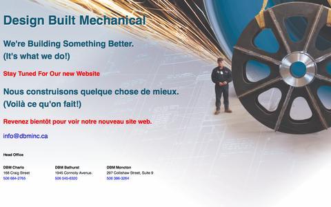 Screenshot of Home Page dbminc.ca - Design Built Mechanical Inc. - captured Nov. 24, 2016
