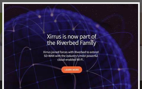 Screenshot of Products Page xirrus.com - Products | Xirrus - captured Jan. 14, 2018