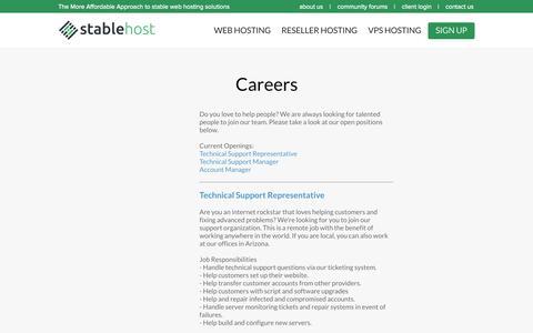 Careers | StableHost