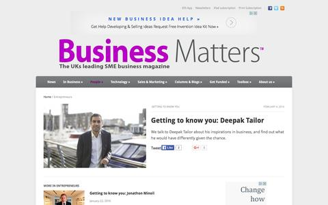 Screenshot of Team Page bmmagazine.co.uk - Business MattersUKs leading entrepreneurs talk to Business Matters magazine - captured Feb. 8, 2016