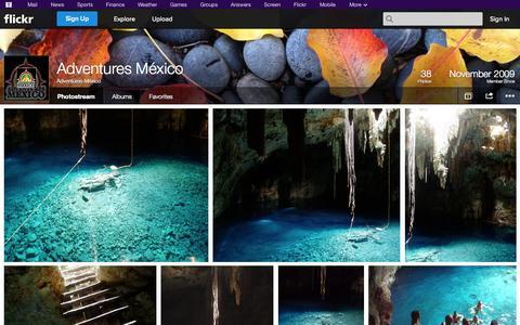 Screenshot of Flickr Page flickr.com - Flickr: Adventures-México's Photostream - captured Oct. 23, 2014