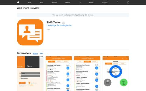 TMS Tasks on the App Store