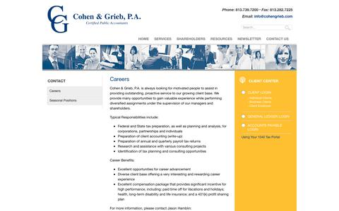 Screenshot of Jobs Page cohengrieb.com - Careers | Cohen & Grieb, P.A. - captured Aug. 10, 2017