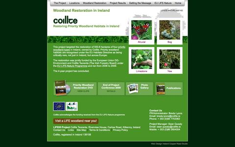 Screenshot of Home Page Locations Page woodlandrestoration.ie - Coillte Woodland Restoration in Ireland - captured March 11, 2016