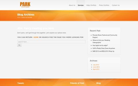 Screenshot of Services Page parkmultimedia.com - Services | Park MultiMedia - captured Sept. 27, 2014