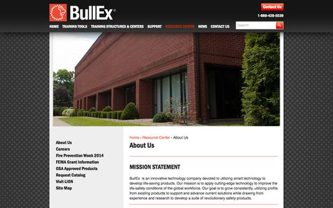Screenshot of About Page bullex.com - About Us - Bullex - captured Sept. 30, 2014