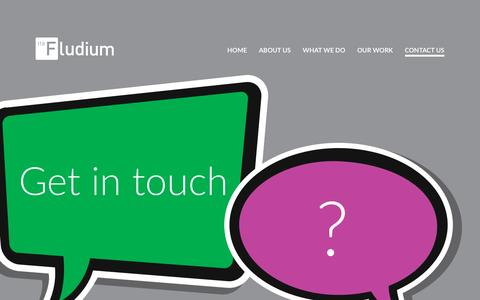 Screenshot of Contact Page fludium.com - Fludium | Contact Us - captured July 8, 2016