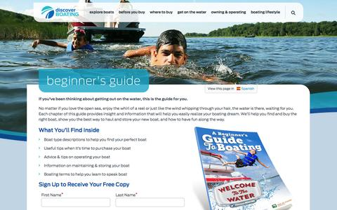 Screenshot of Signup Page discoverboating.com - Beginner's Guide to Boating   Discover Boating - captured Oct. 31, 2014