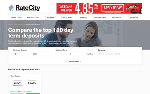 Find The Best 180 Day Term Deposit Rates | Dec 2017 | RateCity