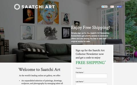 Screenshot of Landing Page saatchiart.com - First Time Purchase Free Shipping Offer | Saatchi Art - captured Oct. 27, 2014