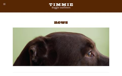 Screenshot of Press Page timmie.ca - News — Timmie | Dog Boutique, Grooming & Food in Toronto - captured Dec. 2, 2016