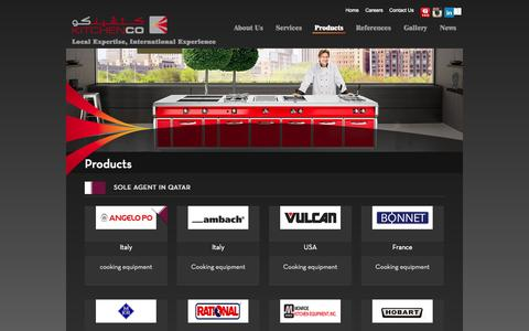 Screenshot of Products Page kitchencoqatar.com - Products | KITCHENCO - captured Sept. 30, 2014